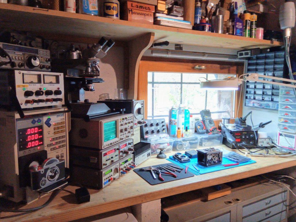 Atelier de réparation d'appareil photo argentique